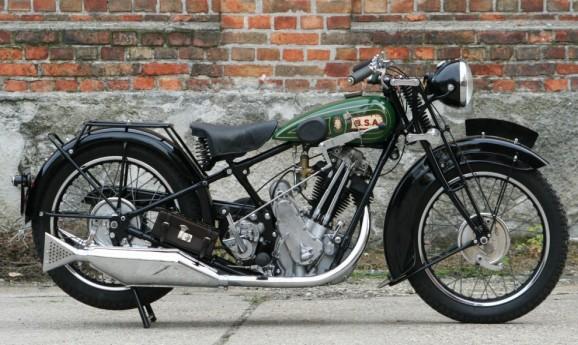 BSA Sloper 500 ohv  1929 -sold to England-